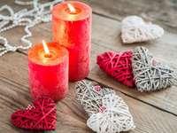 Inimile și lumânările Valentine-urilor