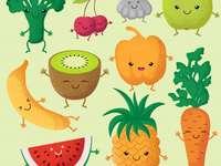 frutas y verduras rompecabezas