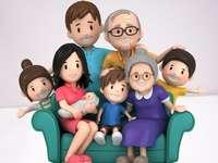 Familia multi-generațională puzzle