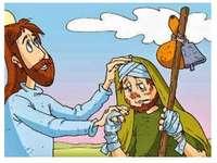 Jesus und der dankbare Aussätzige.