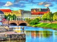 Göteborg városkép Svédországban kirakós játék