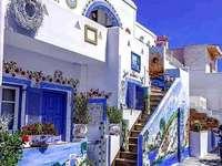Grecia colorida. rompecabezas en línea