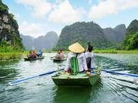 vietnam, flod, båtar online pussel