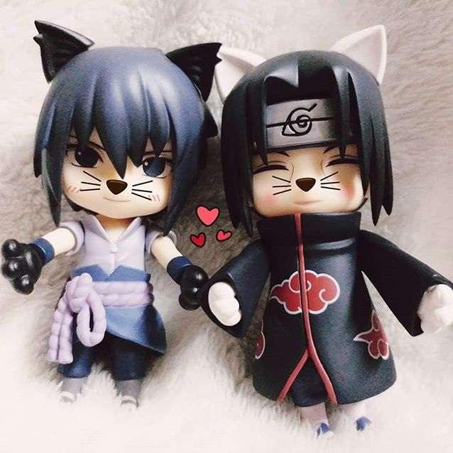 Sasuke e Itachi são fofos demais! quebra-cabeça