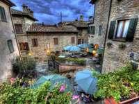 Montone város Umbria-ban kirakós