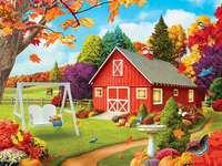 Herbst in der Malerei. Puzzle