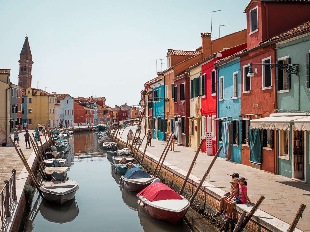 Kolorowe domy na Burano Murano Wenecja