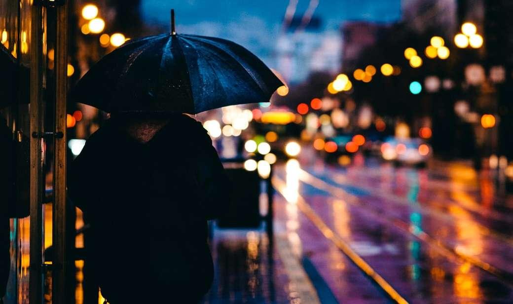 Чадър Калифорния St дъжд пъзел
