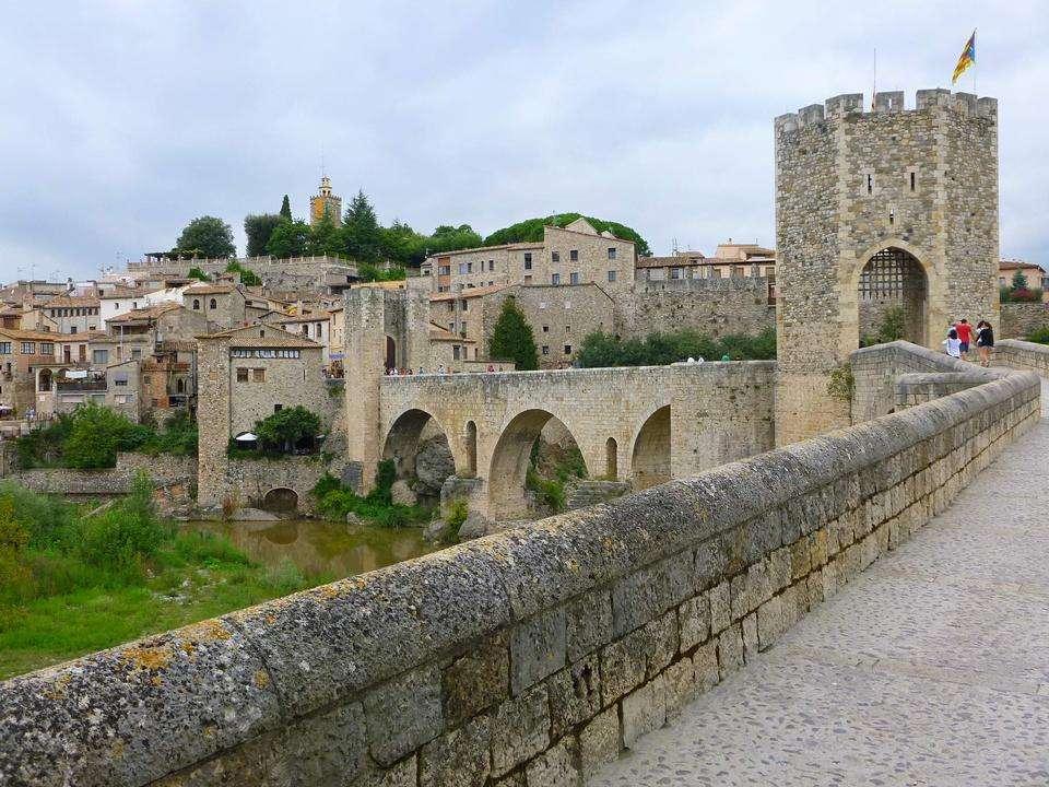 brug over de rivier Fluvia