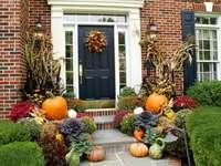 halloween- decoracion en frente de la casa