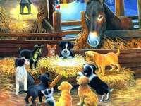 állatok az ünnepek alatt kirakós