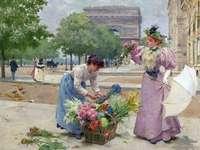 Vendre des fleurs puzzle