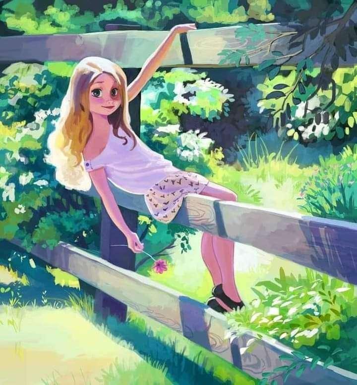Flickan på staketet