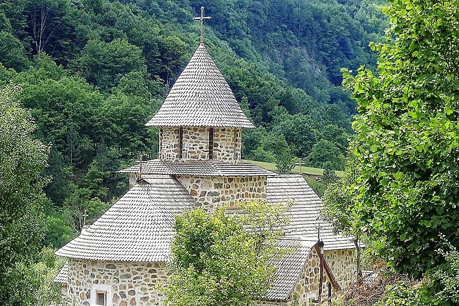 Zlatibor kyrka i Serbien