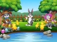 Bunnies Serenading