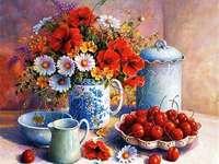 kwiaty i wiśnie