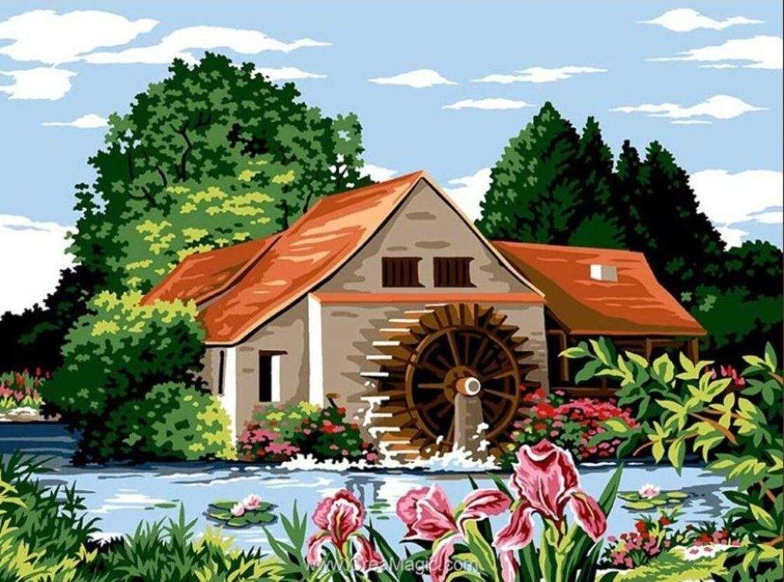 Nice mill and its wheel