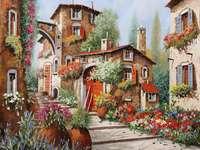 maisons et fleurs