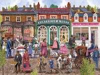 Victorian Street In Summer